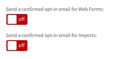 Turning off email optin