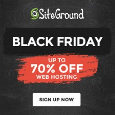 SiteGround up to 70% off