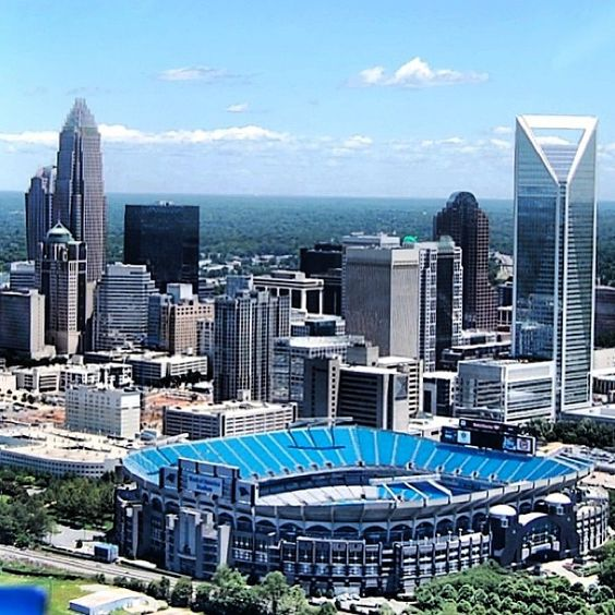 Bank of America Stadium in Charlotte, North Carolina the Queen City