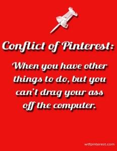 Conflict of Pinterest