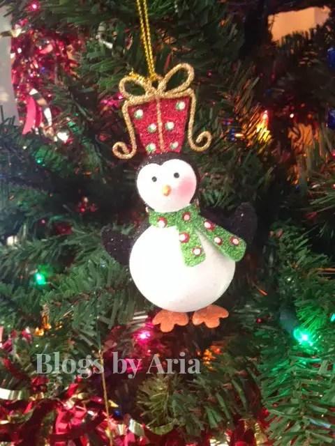 Pier 1 Sparkly Penguin Ornament