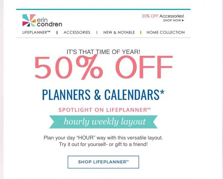Erin Condren Life Planner sale