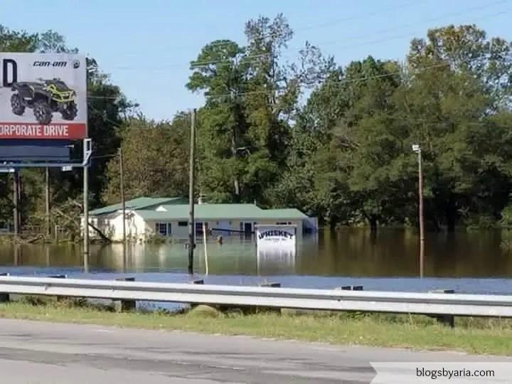 area floods from hurricane matthew