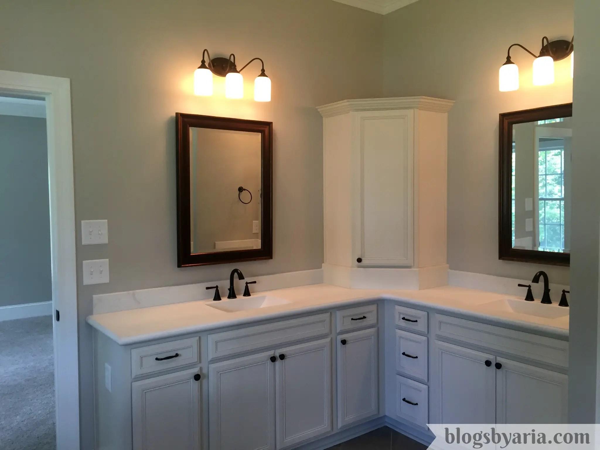 master bathroom his and hers vanities