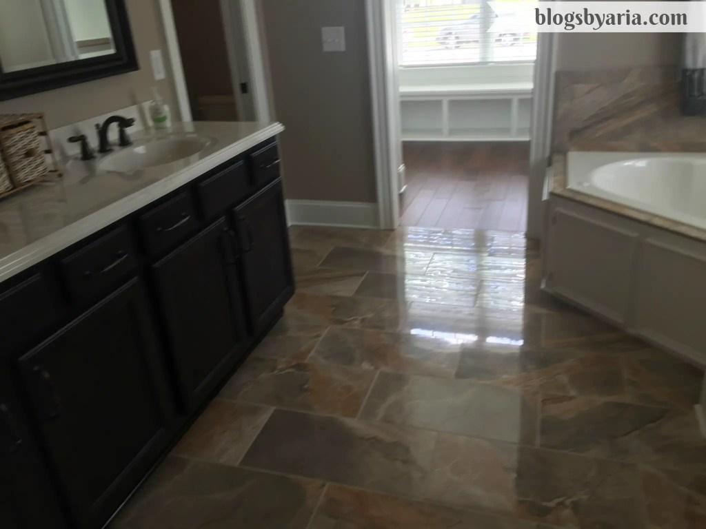 heated floors in master bathroom