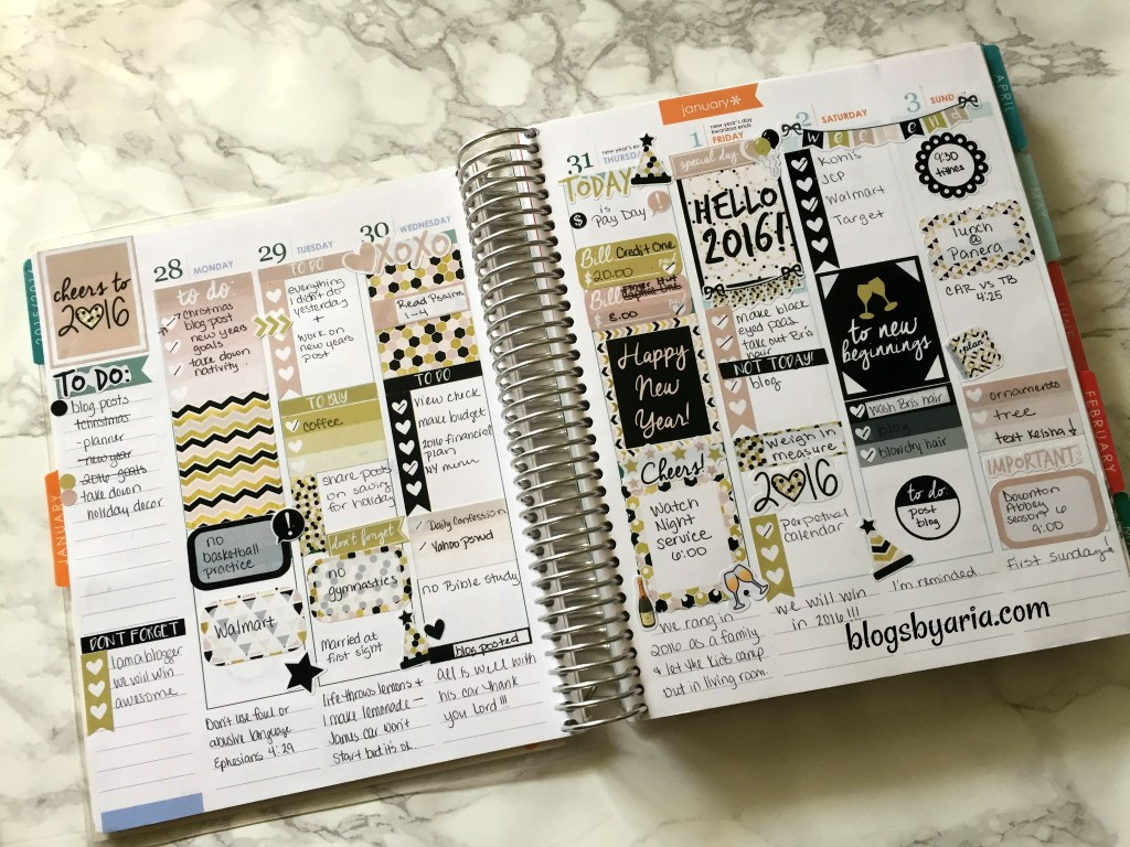 It's Planning Time 2016 New Year planner kit