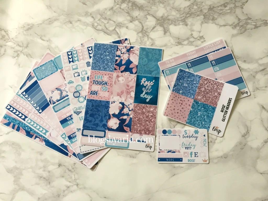 Little Miss Paperie Rose` planner kit