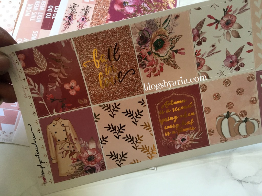 "Simply Watercolor Co Sparkling Fall planner kit ""Fall in Love"""