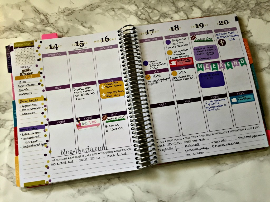 beginning to use planner stickers for Erin Condren Life Planner