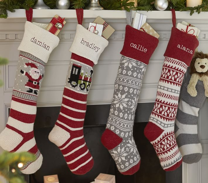 Natural Fair Isle Christmas Stocking Collection
