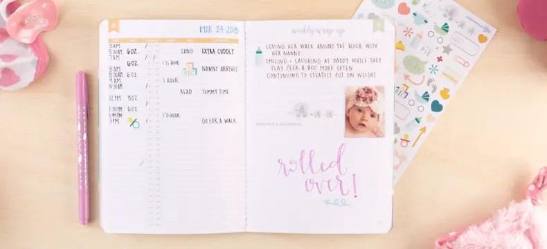 Erin Condren Petite Planner Baby Tracker