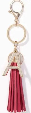 Loft Initial Tassel key chain Hostess Gift Idea