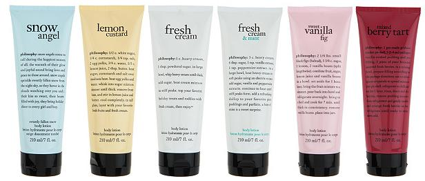 Philosophy Delicious Skin for all 6 piece lotion collection Hostess Gift Guide