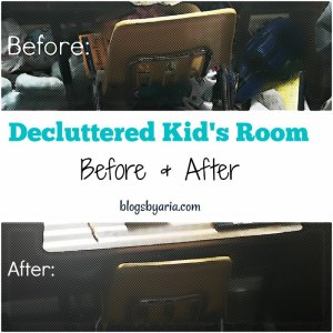 Decluttered Kid's Room – Before & After