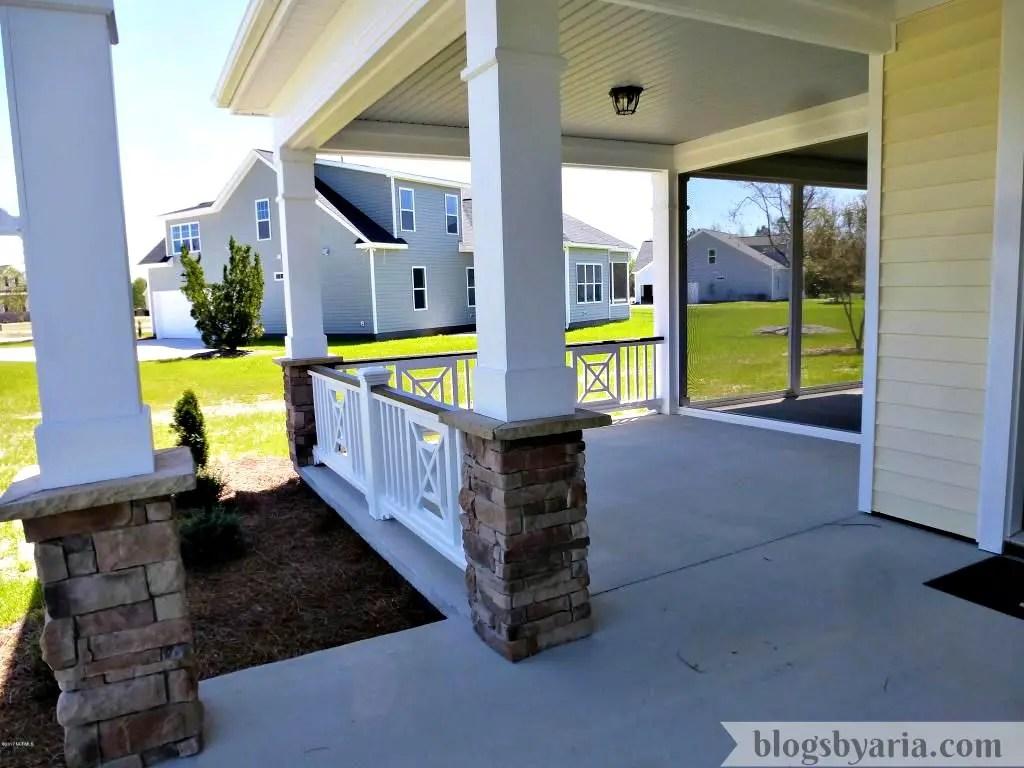 Chestnut Hill House Tour semi wrap around porch