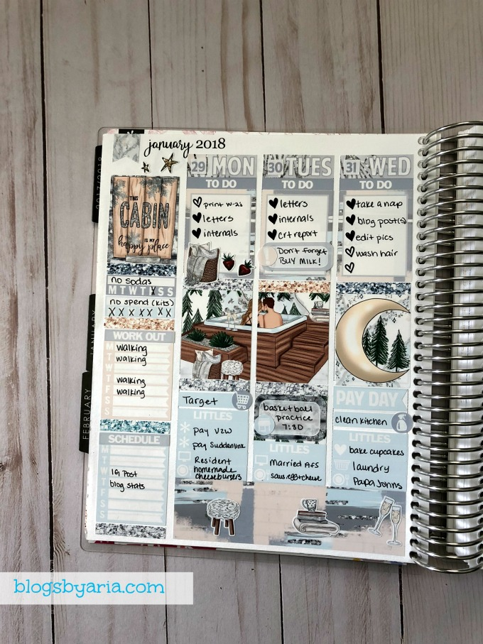 Planning with stickers in your planner
