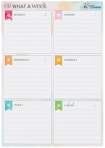 Oh What a Week Planning Notepad
