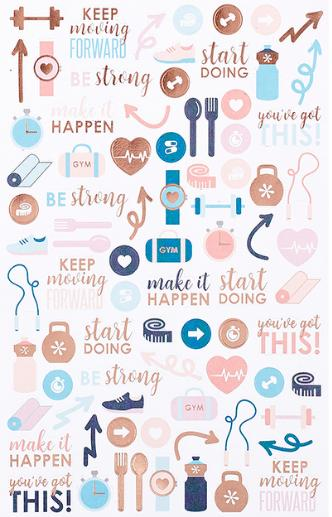 Erin Condren PETITEPLANNER WELLNESS LOG ILLUSTRATION STICKER 2-PACK