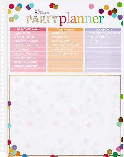 Erin Condren Snap-In Party Planner Dashboard