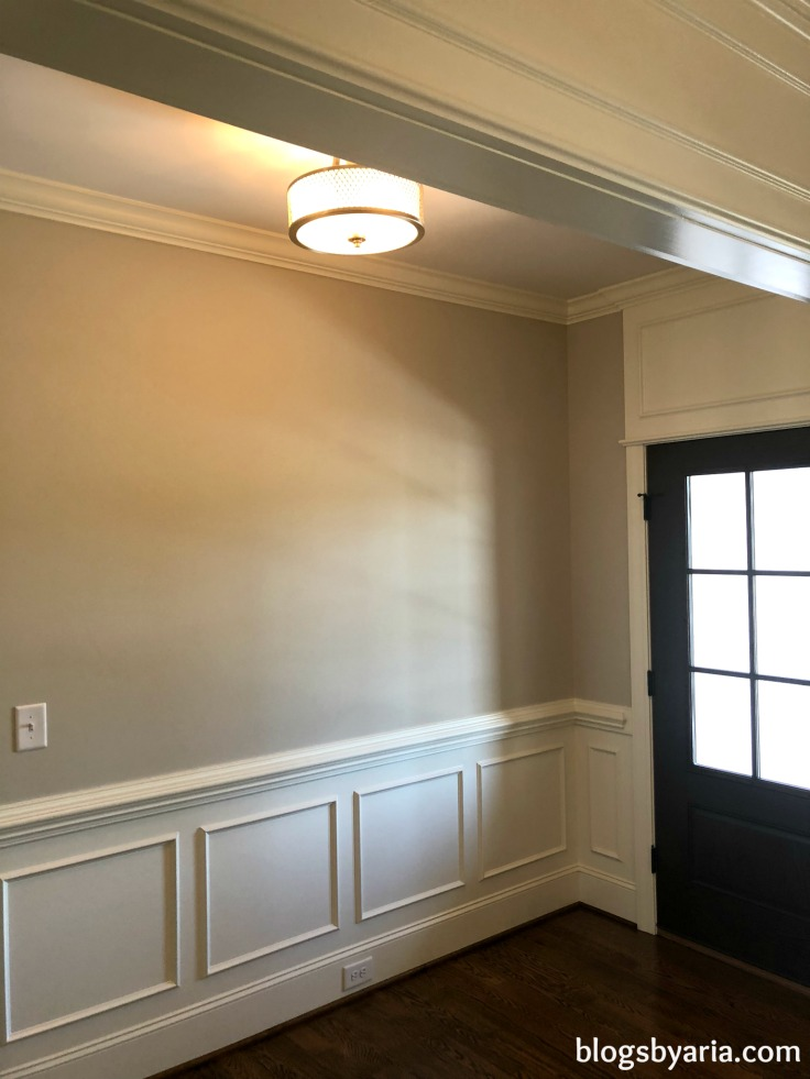 wainscoting trimwork in entry way beautiful millwork