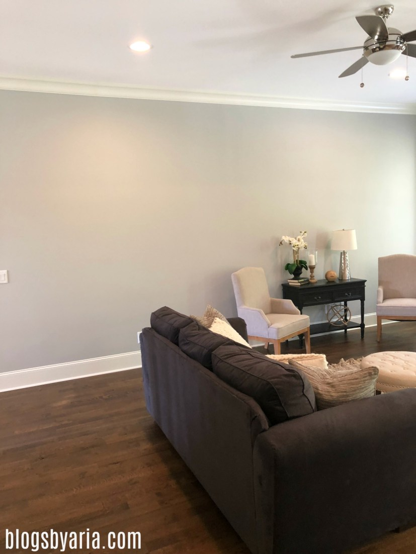 living room, love the paint color