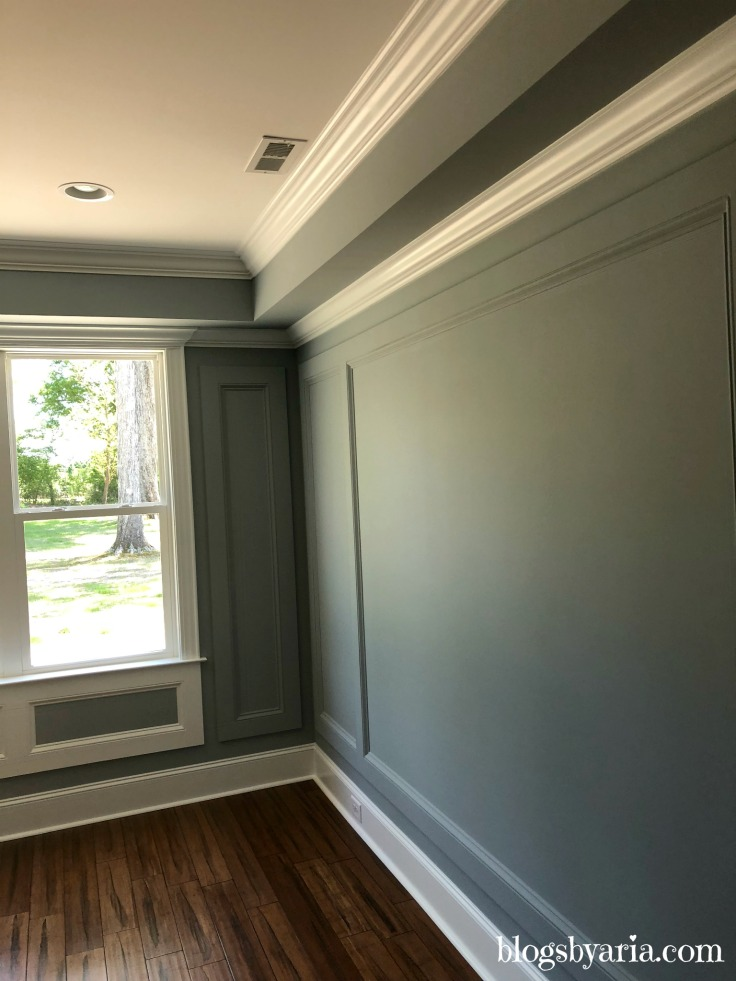 wall panelling and trim work