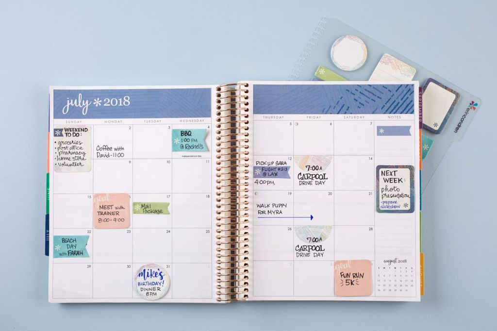 Using Stylized Sticky Notes in Erin condren Life Planner