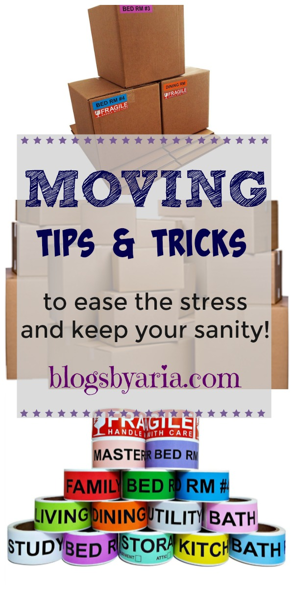 Moving Tips and Tricks to ease the stress and keep your sanity!