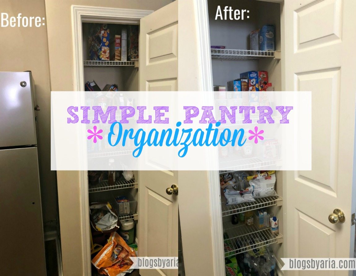 Simple Pantry Organization Before & After