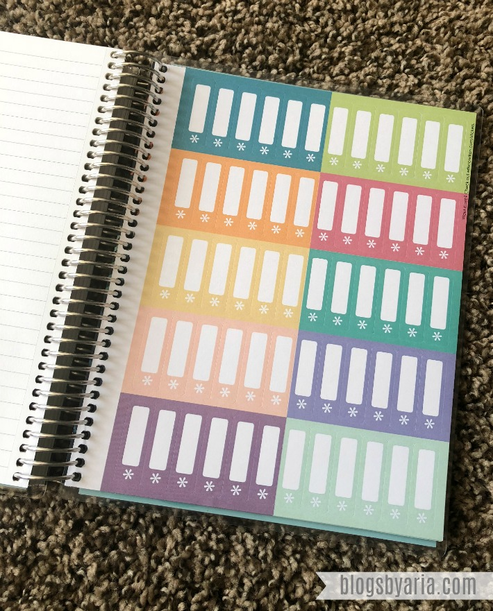 Erin Condren Deluxe Monthly Planner stickers