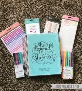My New Blog Planner:  Erin Condren Deluxe Monthly Planner Review
