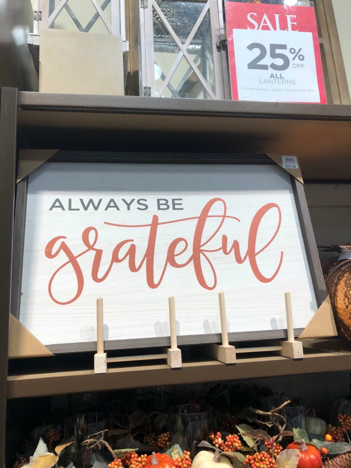 Always be Grateful Wood Plaque