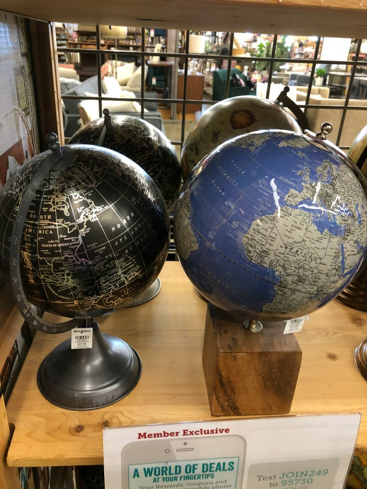 Black and Blue Globes