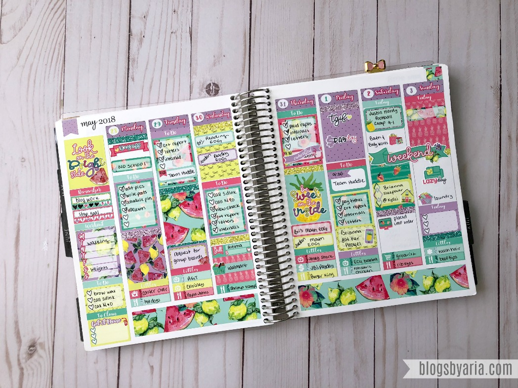 Lexie Kylie Designs Weekly Planner Spread