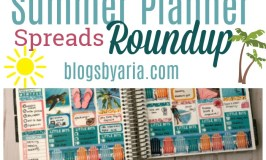 Summer Planner Spreads Roundup
