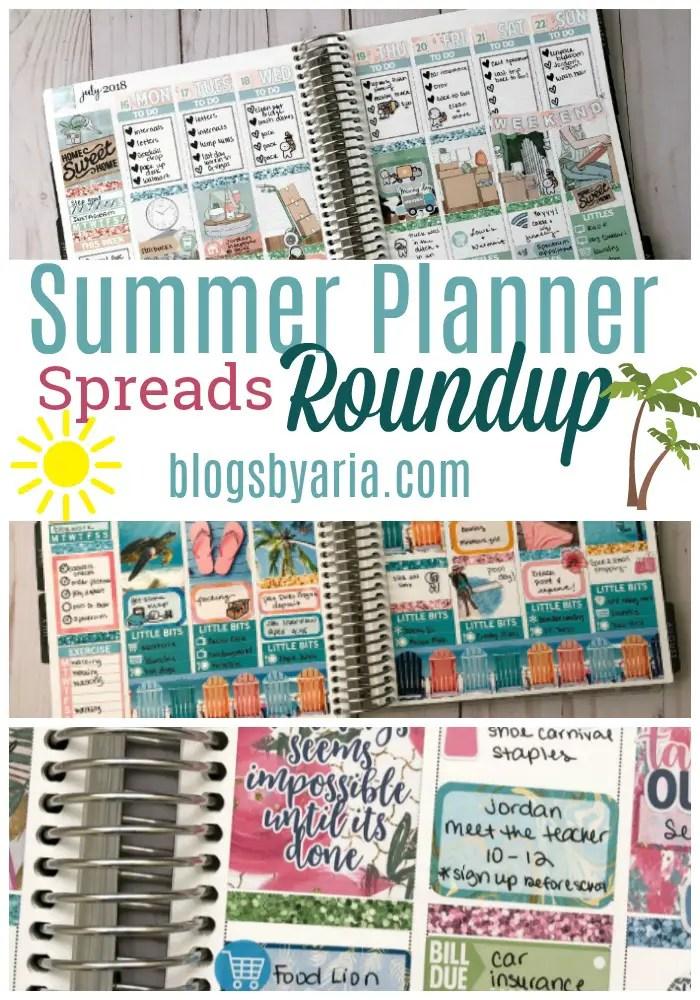 Summer Planner Spreads Roundup