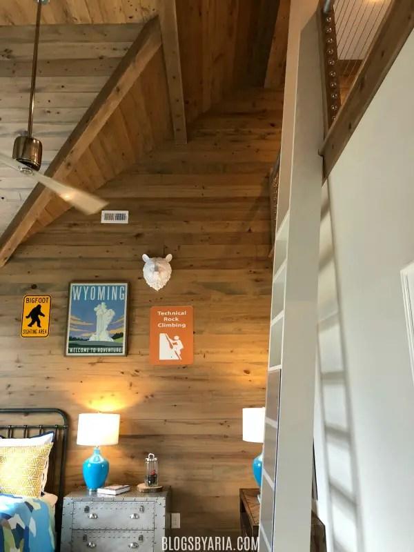 access to secret hideaway in kids bedroom