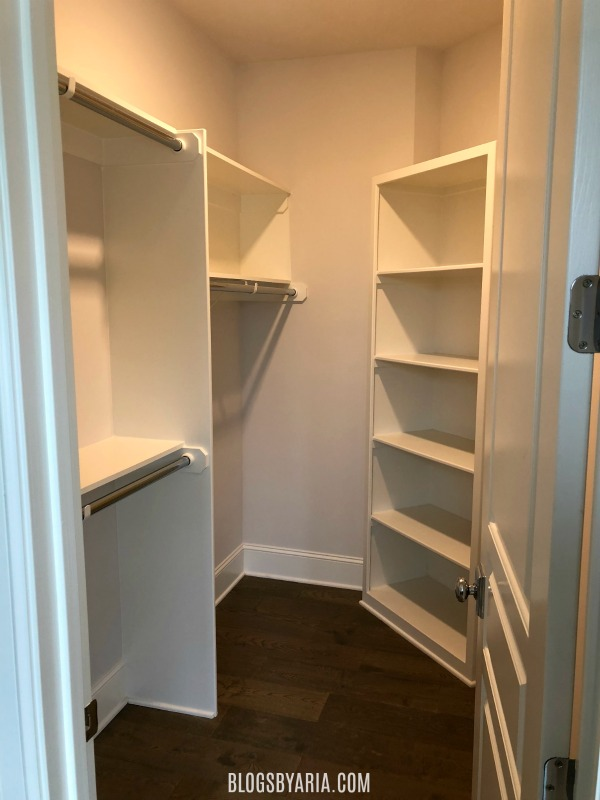 secondary custom walk-in closet