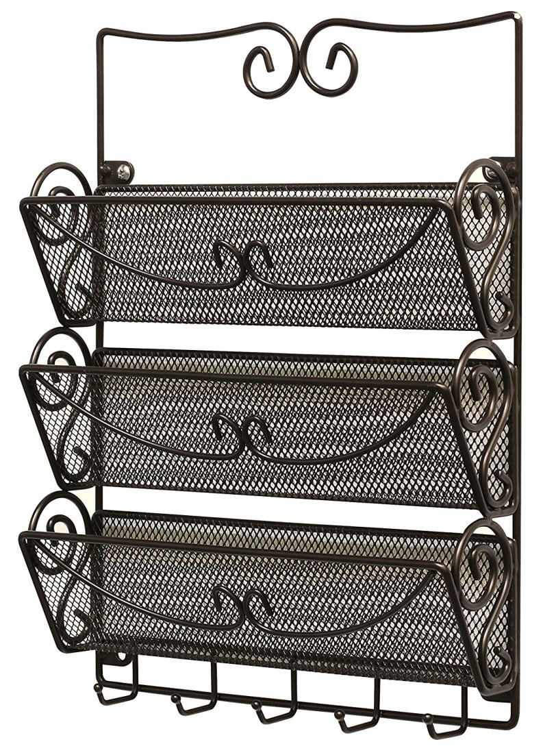 3 tier mail organizer for kitchen or entryway