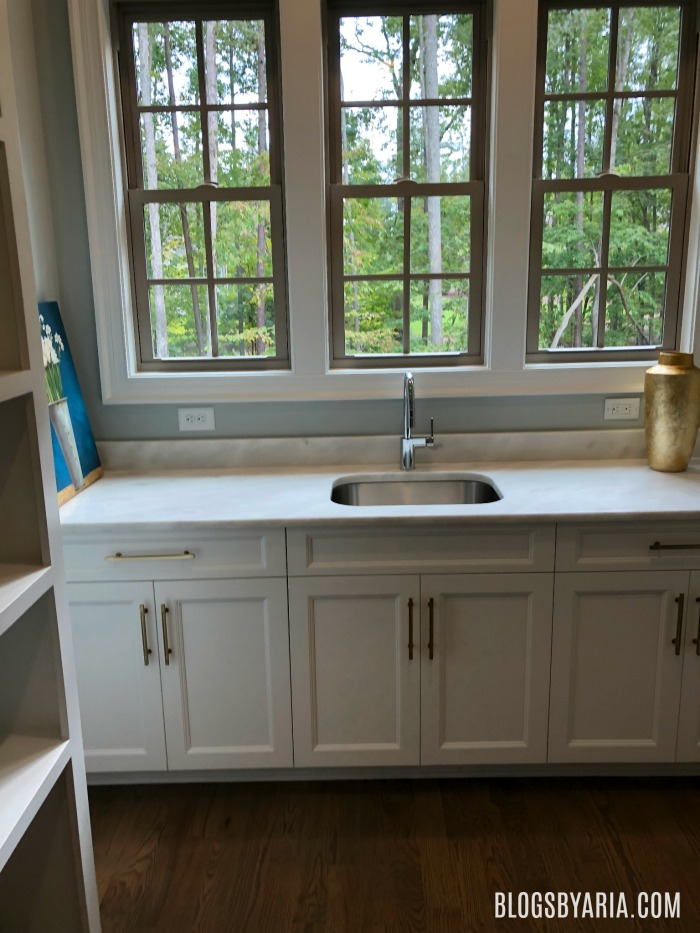 walk in pantry with prep sink