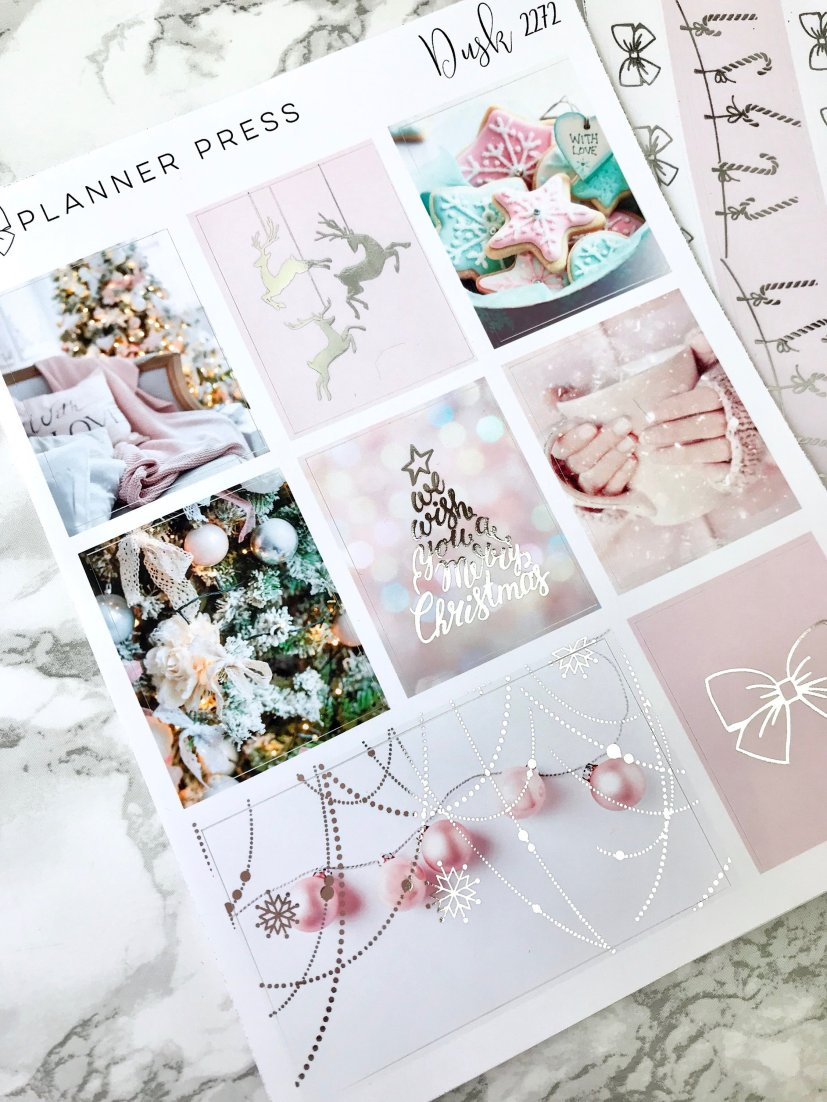 Planner Press Christmas Blush Weekly Planner sticker kit