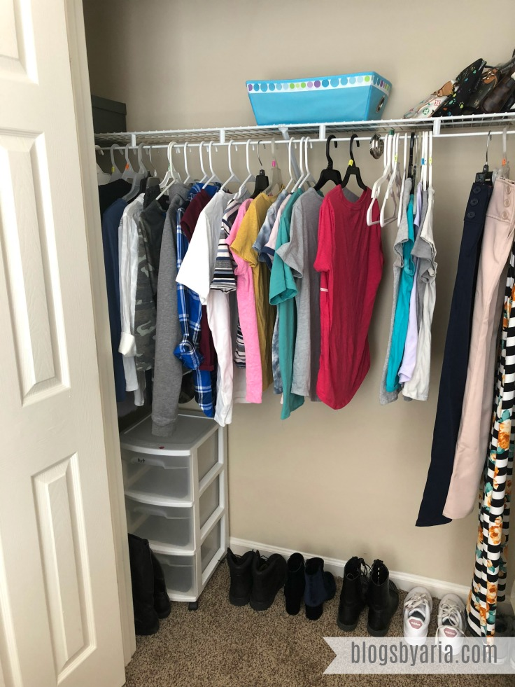Organized Tween Closet and Fashion on the Side