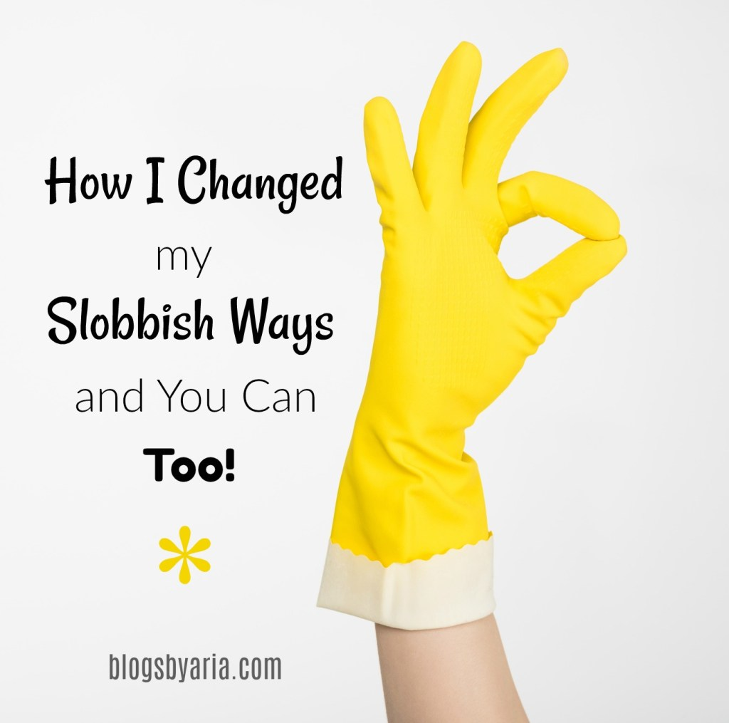 How I Changed my Slobbish Ways and You Can Too