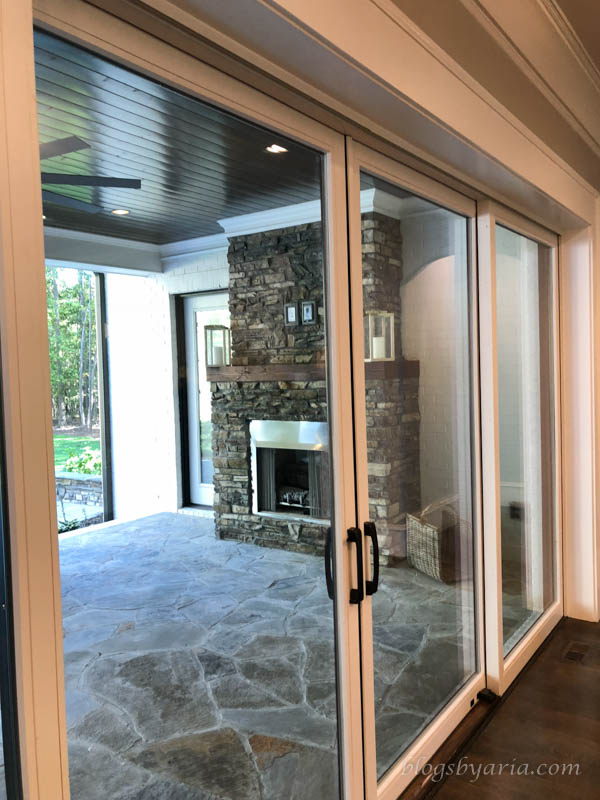 beautiful views to the backyard through these sliding doors
