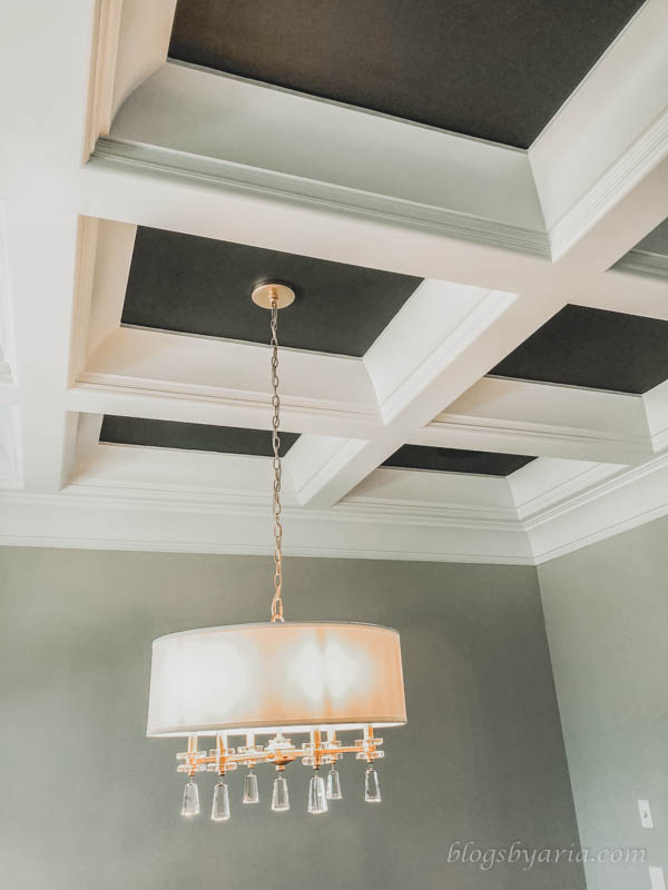 light fixture in dining room