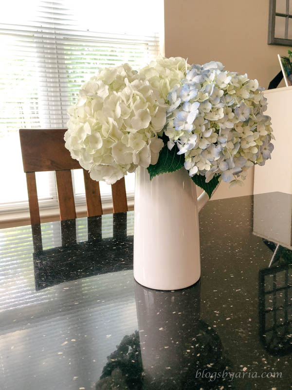 A Few Good Things - hydrangeas from Trader Joe's