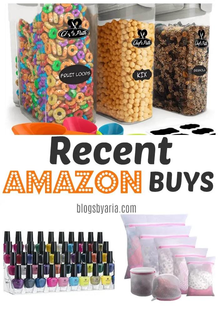 Recent Amazon Buys