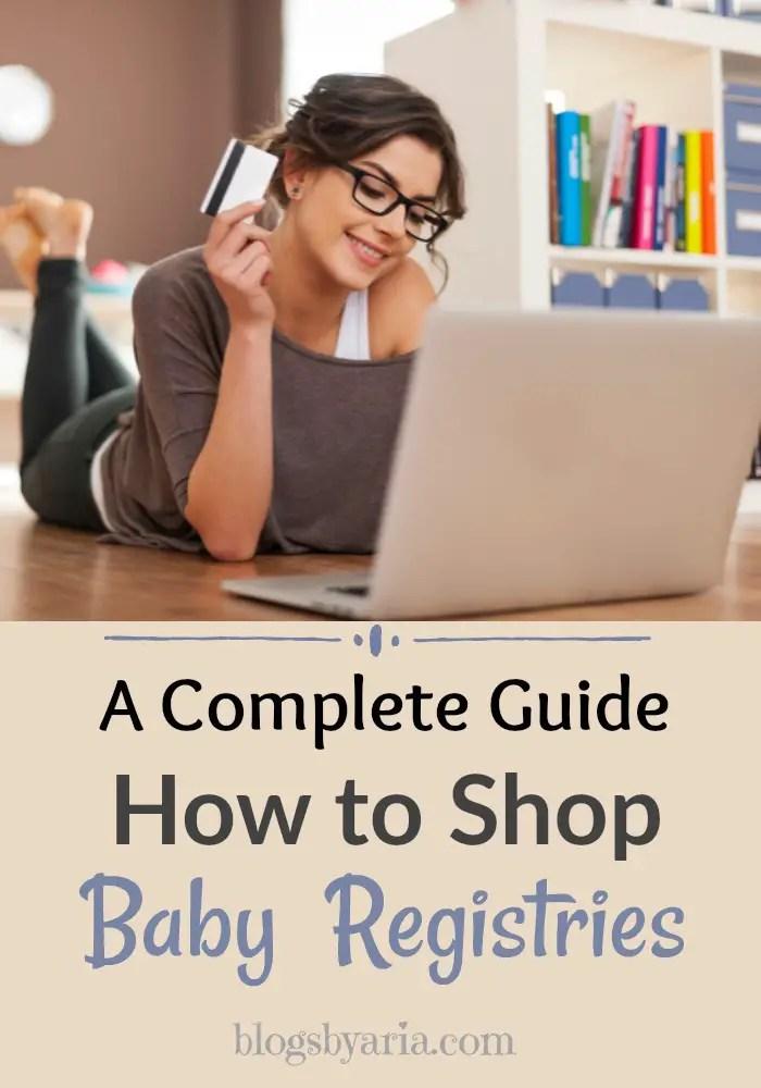 shopping online for baby registry