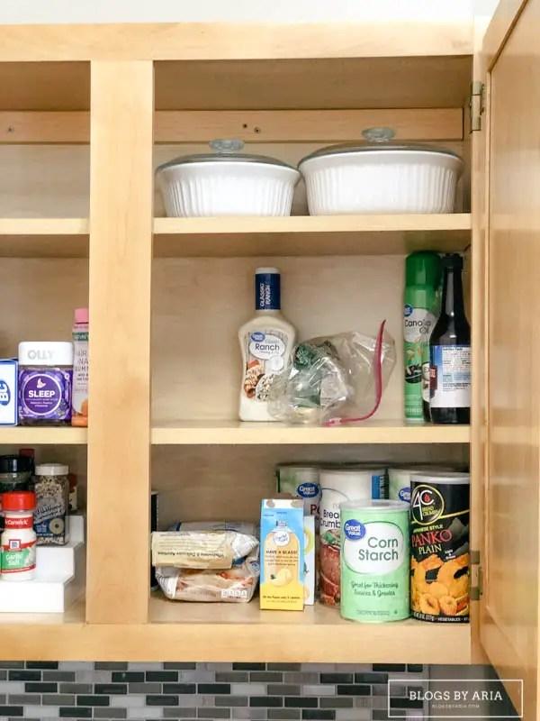Organized Medicine and Kitchen Cabinet