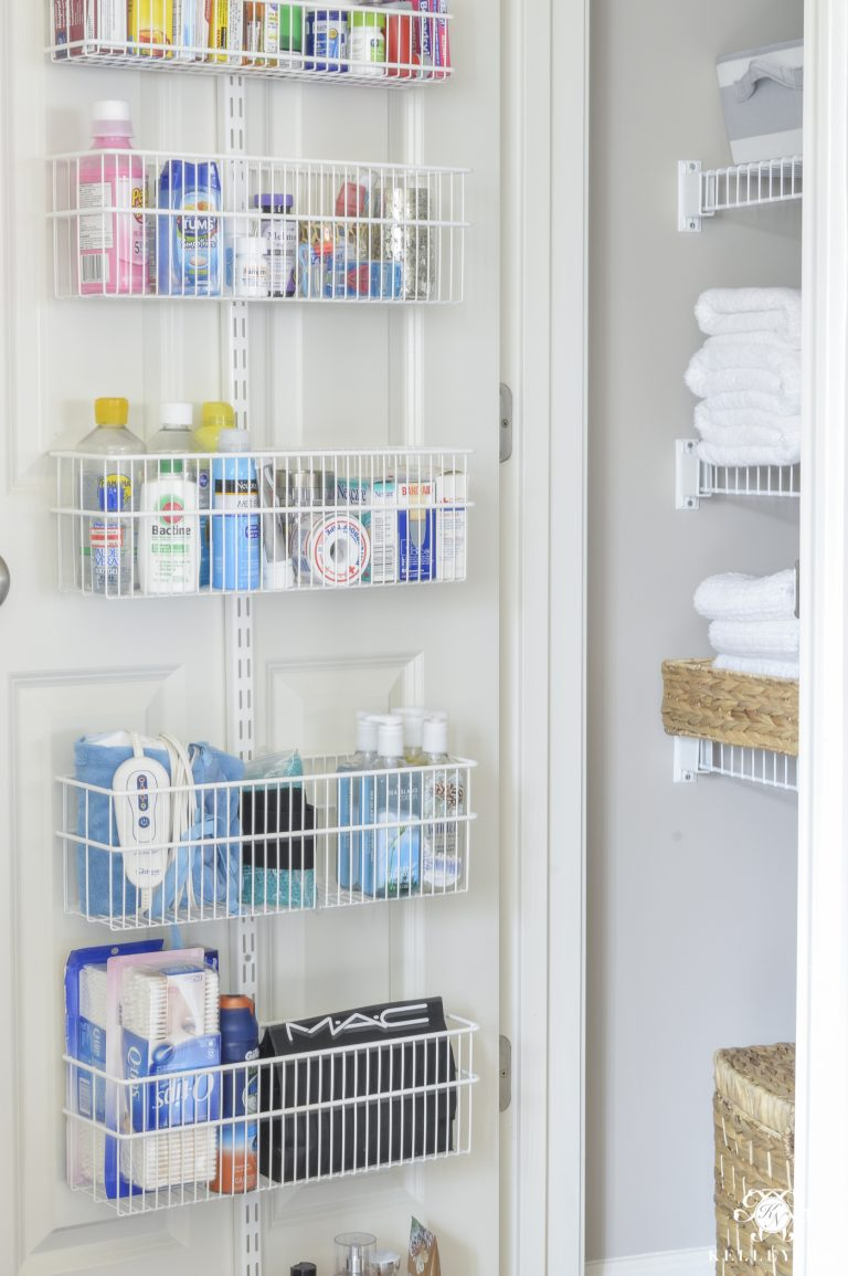 Organized Medicine Linen Closet